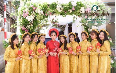 Trang trí lễ ăn hỏi cô dâu Tố Trinh, chú rể An Khánh
