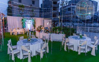Trang trí lễ vu quy + Tiệc cưới ngoài trời Thu Phương, Đăng Tú 2017